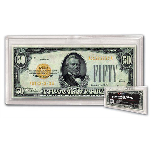 BCW DELUXE CURRENCY SLAB – LARGE BILL