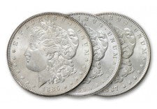 1880 Morgan Silver Dollar Comstock Lode Collection 3 Pieces