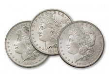 1883-1885-O Morgan Silver Dollar BU - 3 Pieces Set