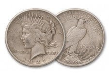 1921-P Peace Dollar Hi-Relief VF
