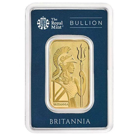 1 oz British Gold Britannia Bar - In Assay -zim trillions