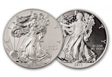 2013-W 1 Dollar Silver Eagle Reverse Proof/BU Set 2pc