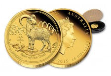 2015 Australia 1/10-oz Gold Year of the Goat Proof