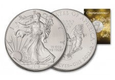 2015 1 Dollar 1-oz Silver Eagle BU Congratulations Coin Pack