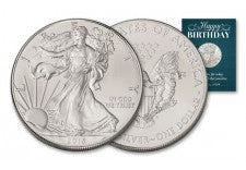 2015 1 Dollar 1-oz Silver Eagle BU Birthday Traditional