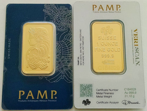 1 oz PAMP Suisse Fortuna Gold Bar (New w/ Assay) - BullionBrothers.net