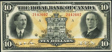 The Royal Bank of CANADA 10 DOLLAR 1927 Circulated