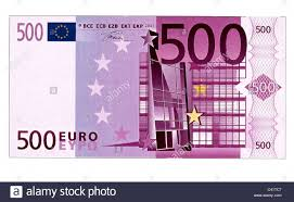 Euro 500 Money Stack