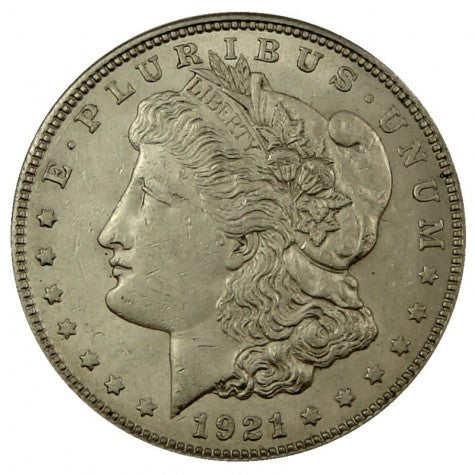 1921 US Morgan Silver Dollar Near Uncirculated