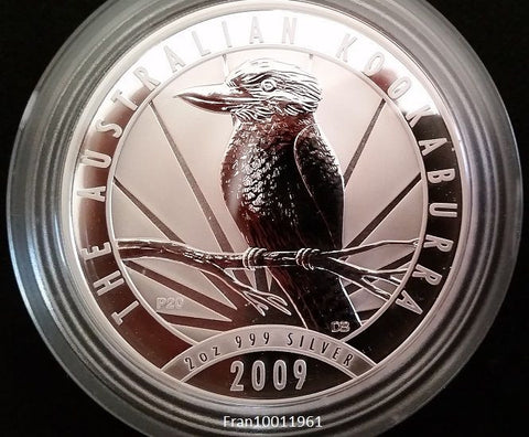 2 OUNCES 2009 KOOKABURRA AUSTRALIAN PROOF SILVER COIN Extremely RARE