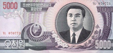 korean 5000 won banknotes 100 pcs (pcs) currency