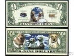 Dogs Novelty Money