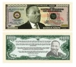 Martin Luther King Jr Million Dollar Bill