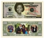 Michele Obama Million Dollar Bill
