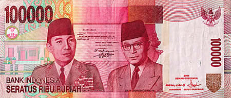 100000 rupiah banknote currency