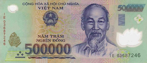 vietnam dong 500000 banknote currency 5 pieces
