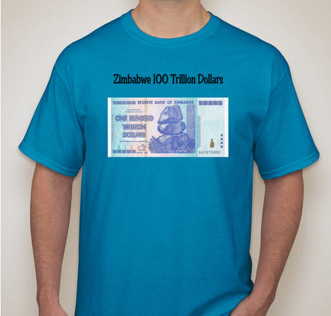 zimbabwe 100 trillion dollar tee shirt