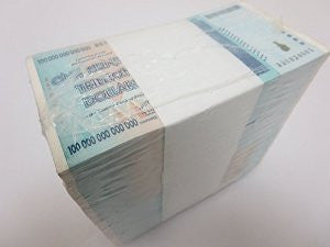 zimbabwe brick 100 trillion dollar banknotes 1000 pieces pcs