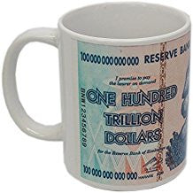 zimbabwe 100 trillion dollar banknote coffee mug cup