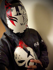 ANBU Brotherhood member Lost Kage, showing off his 3rd and 4th Custom masks