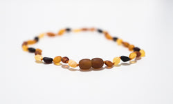 Baltic Amber Baby Necklace Mixed Beans
