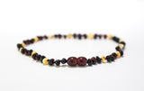 Baltic Amber Baby Necklace Cherry White