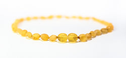 Baltic Amber Baby Necklace Lemon