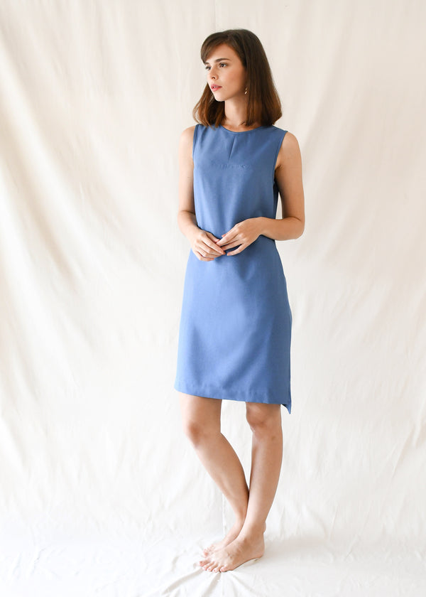 Loop Shift Dress / Blue