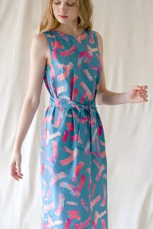 Eva Dress / Teal Splash