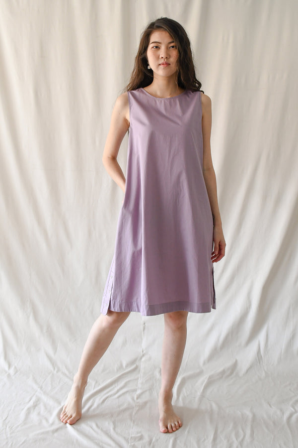 Trapeze Shift Dress / Lavender