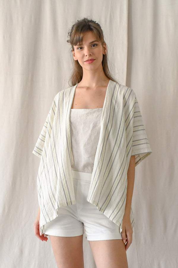 (CLOSED) Kimono Outer / Cream Stripes