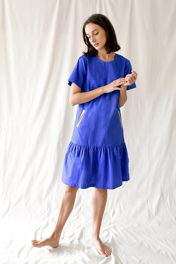 Eleanor Dress / Pop Blue