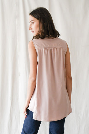 Swing Buttondown Blouse / Pink