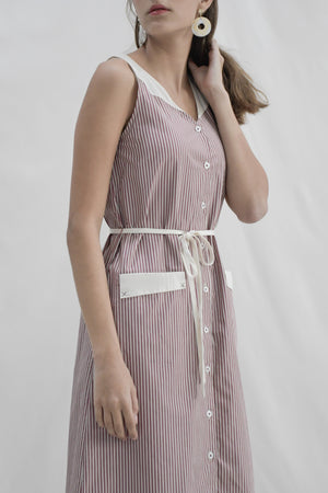 Sophia Dress / Red Stripes