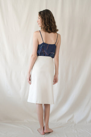 Just a Fold Skirt / Ivory Twill