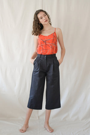 Cropped Pants / Navy Twill