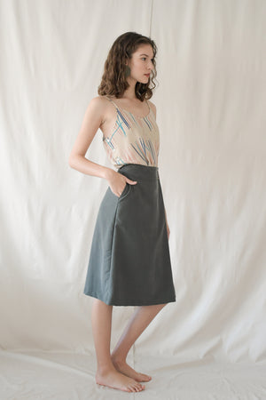 Just a Fold Skirt / Forest Green