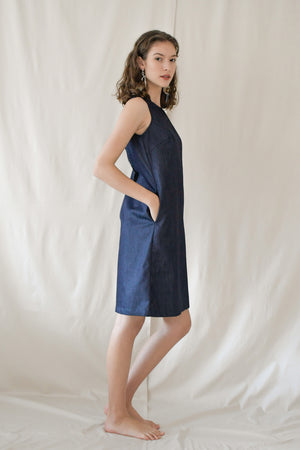 Dip Shift Dress / Denim