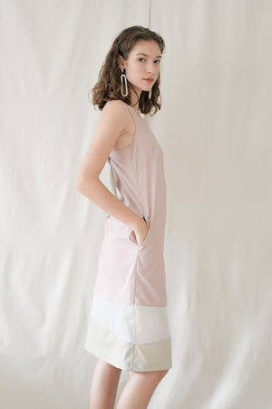 Ribbon Midi Shift / Dusty Pink