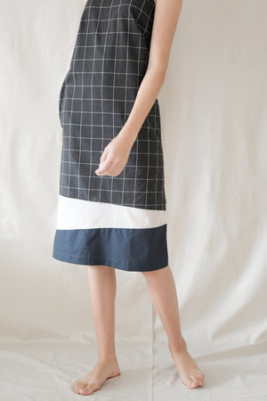 Ribbon Midi Shift / Black Grids