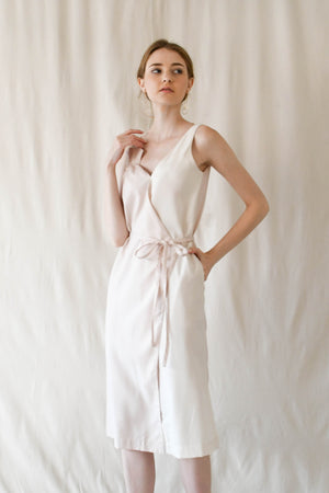 Bouquet Wrap Dress / Pink-Cream