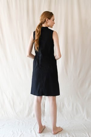 Slope Buttondown Dress / Black