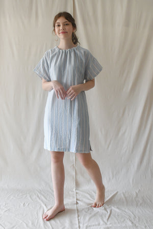 Hammock Dress / Powder Blue Stripes