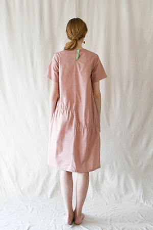 Scrunched T Dress / Strawberry