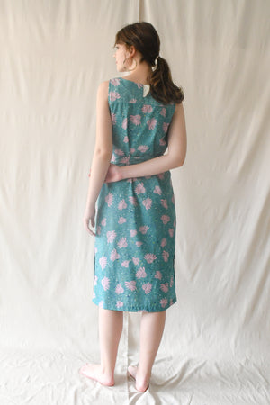 Eva Dress / Turquoise Petals