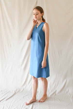 Colourblock Shift Dress / Pop Blue