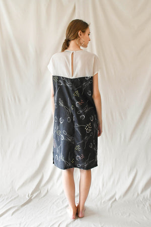 Sheer Midi Dress / Tulip Print