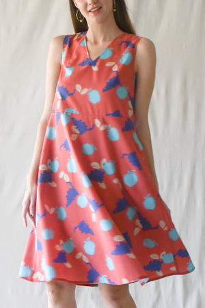 Tessa Flare Dress / Apple Blobs