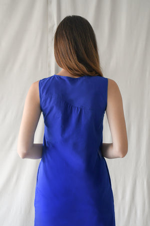 Waves Tent Dress / Pop Blue