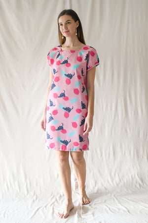 Miranda Dress / Hot Pink Fruits